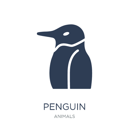 Penguin icon. Trendy flat vector Penguin icon on white background from animals collection, vector illustration can be use for web and mobile, eps10