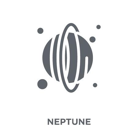 Neptune icon. Neptune design concept  collection. Simple element vector illustration on white background. Stock Illustratie