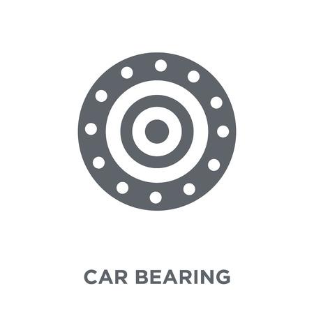 icono de cojinete de coche. concepto de diseño de cojinete de coche de colección de piezas de coche. Ilustración de vector de elemento simple sobre fondo blanco. Ilustración de vector