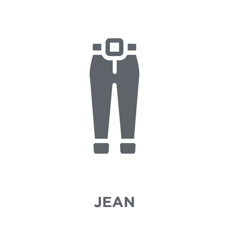 Jean icon. Jean design concept from Clothes collection. Simple element vector illustration on white background.