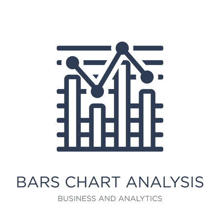 Bars Chart Analysis icon. Trendy flat vector Bars Chart Analysis icon on white background from Business and analytics collection, vector illustration can be use for web and mobile, eps10 Illustration