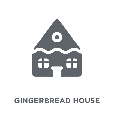 Gingerbread house icon. Gingerbread house design concept from Christmas collection. Simple element vector illustration on white background. Standard-Bild - 112059556