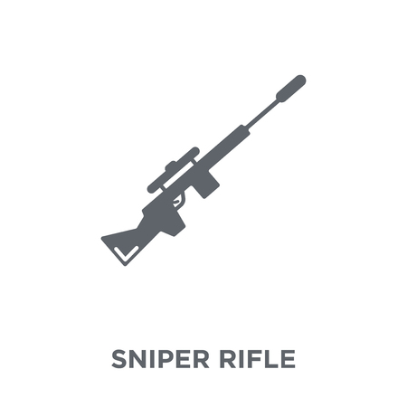 Sniper Rifle icon. Sniper Rifle design concept from Army collection. Simple element vector illustration on white background.