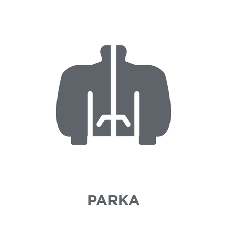 Parka icon. Parka design concept from Clothes collection. Simple element vector illustration on white background.