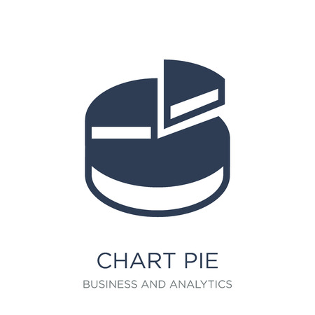 Chart pie icon. Trendy flat vector Chart pie icon on white background from Business and analytics collection, vector illustration can be use for web and mobile, eps10 Çizim