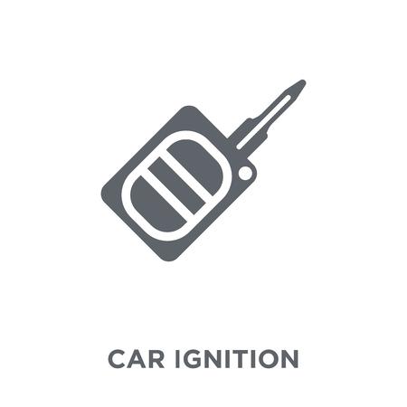 icône d'allumage de voiture. concept de design d'allumage de voiture de la collection de pièces de voiture. Illustration vectorielle élément simple sur fond blanc.
