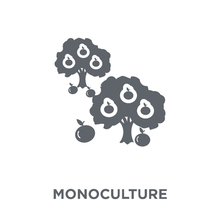 monoculture icon. monoculture design concept from Agriculture, Farming and Gardening collection. Simple element vector illustration on white background.
