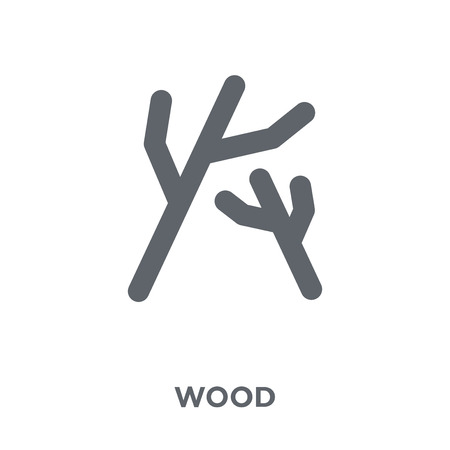 Wood icon. Wood design concept from Camping collection. Simple element vector illustration on white background. Ilustração