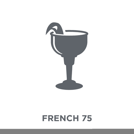 French 75 icon. French 75 design concept from Drinks collection. Simple element vector illustration on white background.