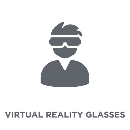 Virtual reality glasses icon. Virtual reality glasses design concept from Entertainment collection. Simple element vector illustration on white background. Illustration