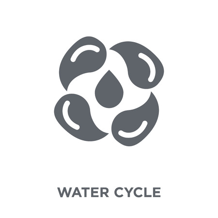 Water cycle icon. Water cycle design concept from Ecology collection. Simple element vector illustration on white background. Çizim