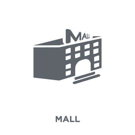 Mall icon. Mall design concept from Entertainment collection. Simple element vector illustration on white background.