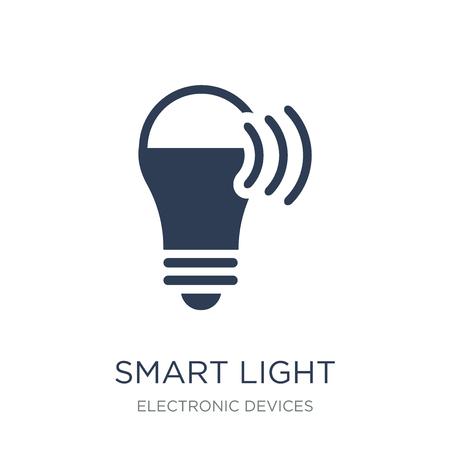 Ikona inteligentnego światła. Modny płaski wektor inteligentne światło ikona na białym tle z kolekcji urządzeń elektronicznych, ilustracji wektorowych można używać dla sieci web i mobile, eps10