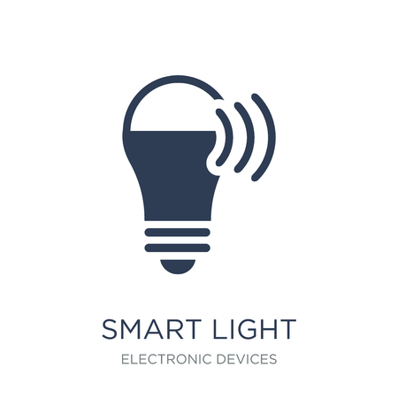 Smart light icon. Trendy flat vector Smart light icon on white background from Electronic devices collection, vector illustration can be use for web and mobile, eps10