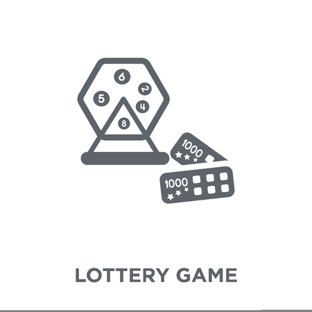 Lottery game icon. Lottery game design concept from Arcade collection. Simple element vector illustration on white background.