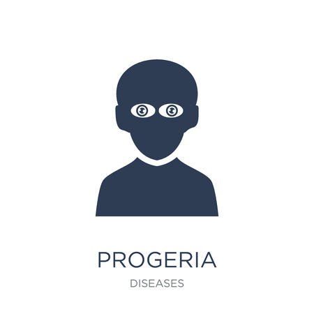 Progeria icon. Trendy flat vector Progeria icon on white background from Diseases collection, vector illustration can be use for web and mobile, eps10 Illustration