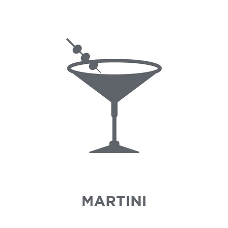 Martini icon. Martini design concept from Drinks collection. Simple element vector illustration on white background.