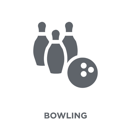 Bowling icon. Bowling design concept from Entertainment collection. Simple element vector illustration on white background.