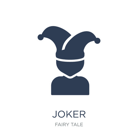 Joker icon. Trendy flat vector Joker icon on white background from Fairy Tale collection, vector illustration can be use for web and mobile, eps10