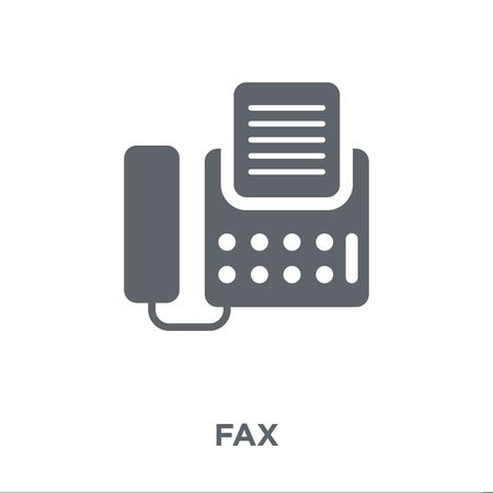 Fax icon. Fax design concept from Electronic devices collection. Simple element vector illustration on white background. Standard-Bild - 111942866