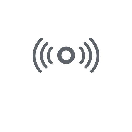 Icône de signal. Concept de design de signal de la collection Communication. Illustration vectorielle élément simple sur fond blanc.
