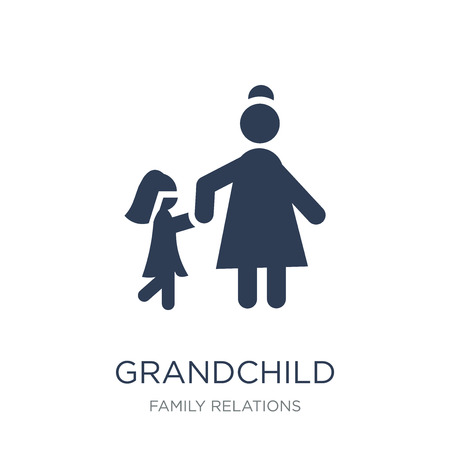 grandchild icon. Trendy flat vector grandchild icon on white background from family relations collection, vector illustration can be use for web and mobile, eps10