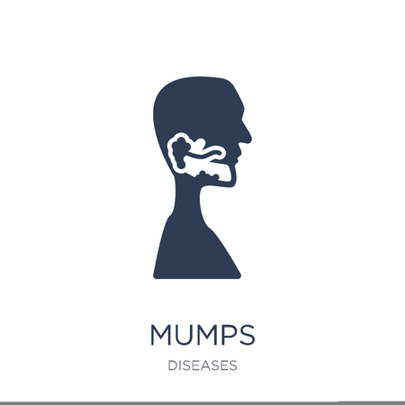 Mumps icon. Trendy flat vector Mumps icon on white background from Diseases collection, vector illustration can be use for web and mobile, eps10 Illustration