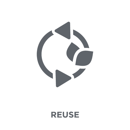 Reuse icon. Reuse design concept from Ecology collection. Simple element vector illustration on white background.