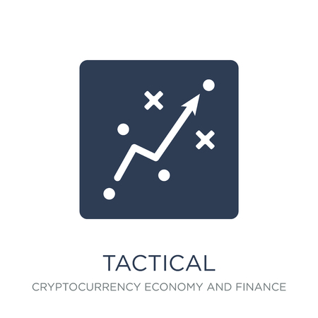 Tactical icon. Trendy flat vector Tactical icon on white background from Cryptocurrency economy and finance collection, vector illustration can be use for web and mobile, eps10