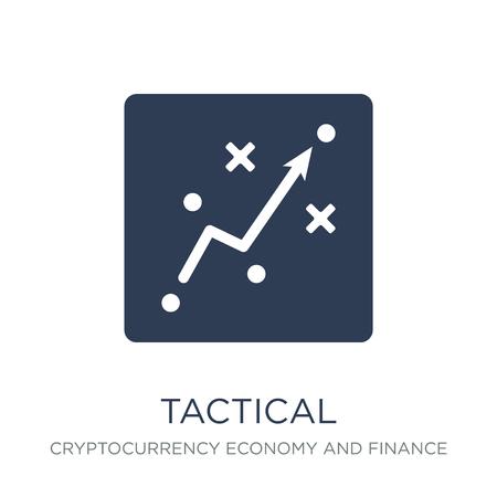 Taktisches Symbol. Trendiges flaches taktisches Vektorsymbol auf weißem Hintergrund aus der Kryptowährungs-Wirtschafts- und Finanzsammlung, Vektorillustration kann für Web und Mobile verwendet werden, eps10