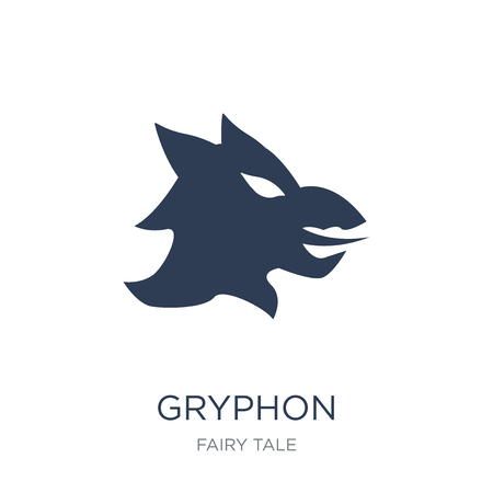 Gryphon icon. Trendy flat vector Gryphon icon on white background from Fairy Tale collection, vector illustration can be use for web and mobile, eps10 Illustration