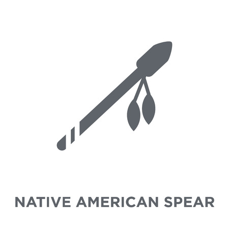 Native American Spear icon. Native American Spear design concept from American Indigenous Signals collection. Simple element vector illustration on white background. Stock Vector - 112060162
