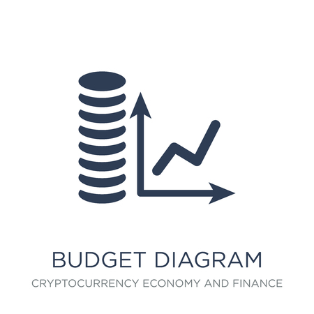 budget diagram icon. Trendy flat vector budget diagram icon on white background from Cryptocurrency economy and finance collection, vector illustration can be use for web and mobile, eps10