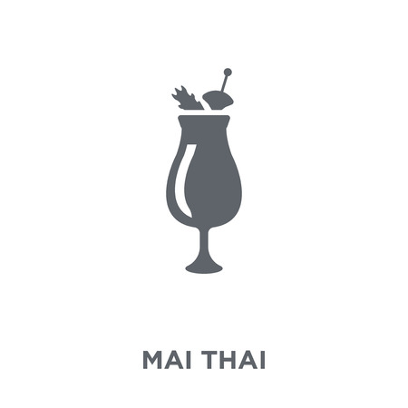Mai thai icon. Mai thai design concept from Drinks collection. Simple element vector illustration on white background. Фото со стока - 112060203