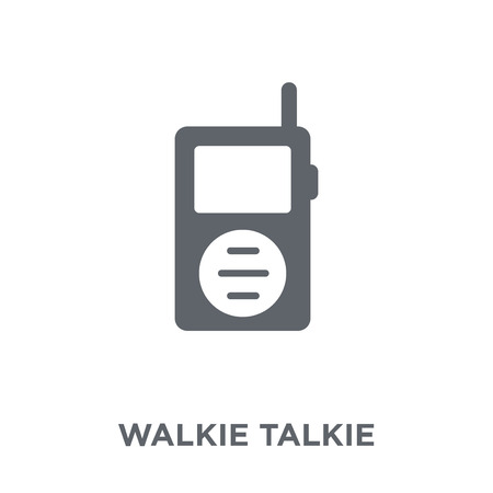 Walkie talkie icon. Walkie talkie design concept from Electronic devices collection. Simple element vector illustration on white background.