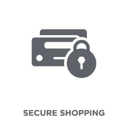 Secure shopping icon. Secure shopping design concept from  collection. Simple element vector illustration on white background.