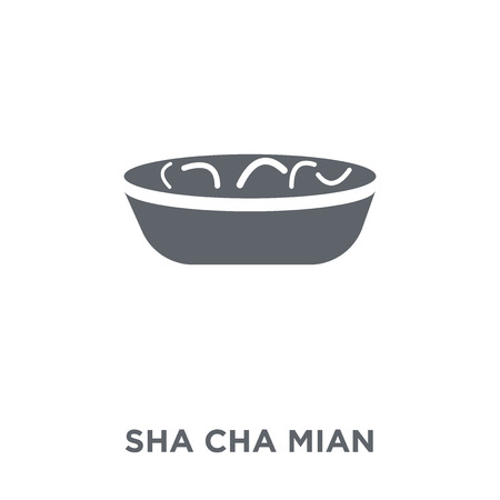 Sha Cha Mian icon. Sha Cha Mian design concept from Chinese Food collection. Simple element vector illustration on white background. Stock Vector - 111940144
