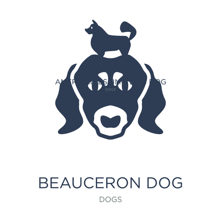 Beauceron dog icon. Trendy flat vector Beauceron dog icon on white background from dogs collection, vector illustration can be use for web and mobile, eps10