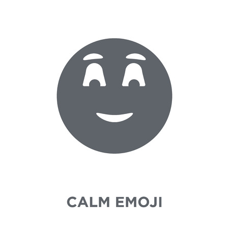 Calm emoji icon. Calm emoji design concept from Emoji collection. Simple element vector illustration on white background. Ilustrace