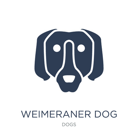 Weimeraner dog icon. Trendy flat vector Weimeraner dog icon on white background from dogs collection, vector illustration can be use for web and mobile, eps10