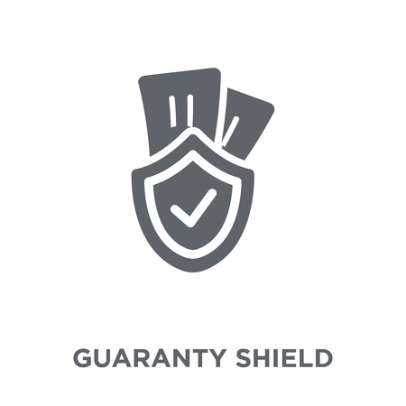 guaranty Shield icon. guaranty Shield design concept from Ecommerce collection. Simple element vector illustration on white background. Stok Fotoğraf - 112061320