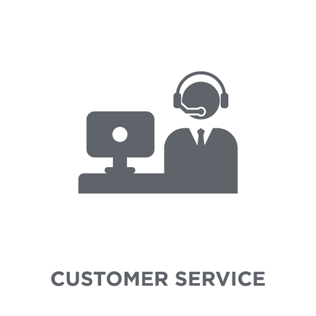 Customer service icon. Customer service design concept from Communication collection. Simple element vector illustration on white background. Vettoriali