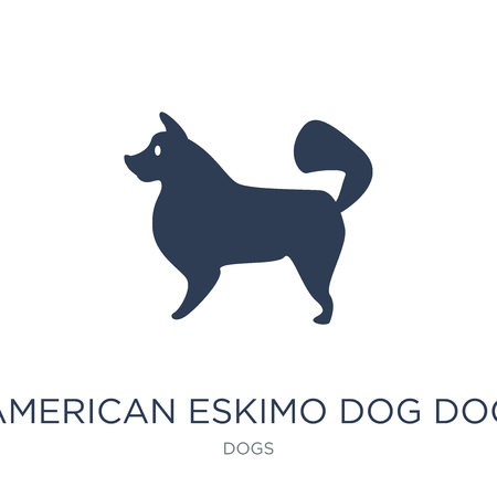 American Eskimo Dog dog icon. Trendy flat vector American Eskimo Dog dog icon on white background from dogs collection, vector illustration can be use for web and mobile, eps10 Фото со стока - 111940208