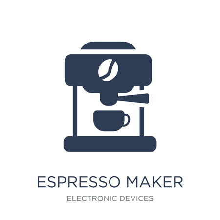 espresso maker icon. Trendy flat vector espresso maker icon on white background from Electronic devices collection, vector illustration can be use for web and mobile, eps10