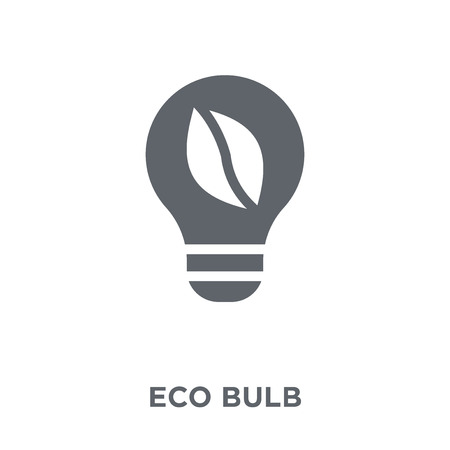 Eco bulb icon. Eco bulb design concept from Ecology collection. Simple element vector illustration on white background. Иллюстрация