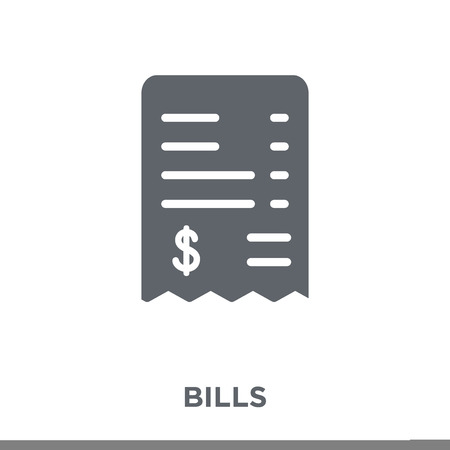 Bills icon. Bills design concept from Payment collection. Simple element vector illustration on white background.