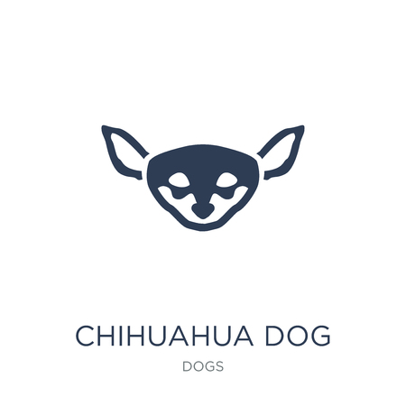 Chihuahua dog icon. Trendy flat vector Chihuahua dog icon on white background from dogs collection, vector illustration can be use for web and mobile, eps10