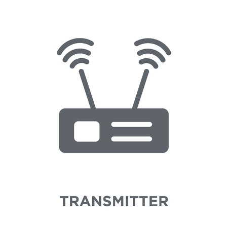 Transmitter icon. Transmitter design concept from Communication collection. Simple element vector illustration on white background.