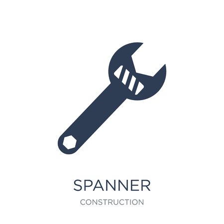 Spanner icon. Trendy flat vector Spanner icon on white background from Construction collection, vector illustration can be use for web and mobile, eps10