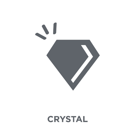 Crystal icon. Crystal design concept from Arcade collection. Simple element vector illustration on white background.